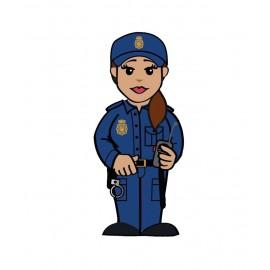 USB Polícia Nacional Chica en lata
