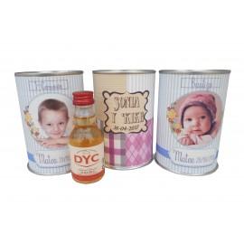 Botellin miniatura Whisky DYC en lata