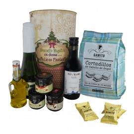 Lote regalo Gourmet Navideño en lata gigante PERSONALIZADA