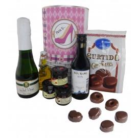Lote de productos Gourmet en lata gigante PERSONALIZADA para mujer