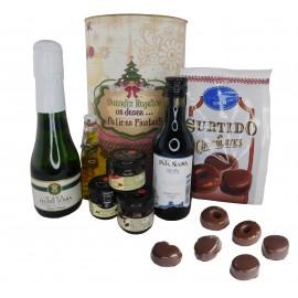 Lote de productos Gourmet en lata gigante PERSONALIZADA con motivos Navideños