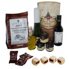 Lote de productos Gourmet para Navidad en lata PERSONALIZADA con abre fácil