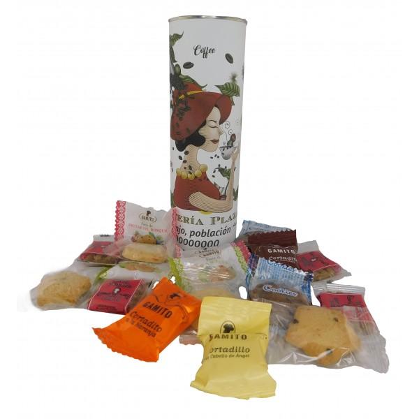 Lote de pastas en lata PERSONALIZADA para regalo de Empresa