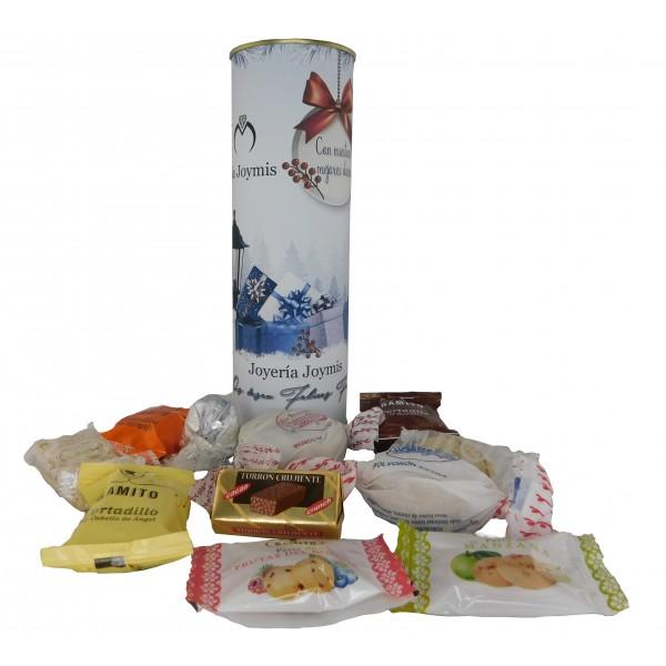 Lote de pastas en lata PERSONALIZADA para regalo Navidad de Empresa
