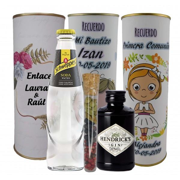 Lata PERSONALIZADA de Gin Tonic Schweppes ORIGINAL con ginebra Hendrick´s