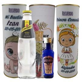 Lata PERSONALIZADA de Gin Tonic Schweppes ORIGINAL con ginebra LARIOS 12 años