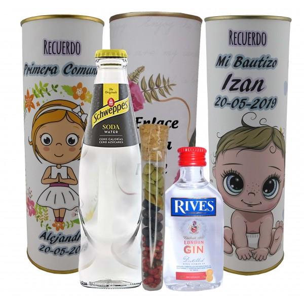 Lata PERSONALIZADA Gin Tonic Schweppes ORIGINAL con ginebra RIVES