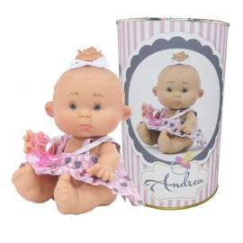 Muñeca Andrea en lata personalizada