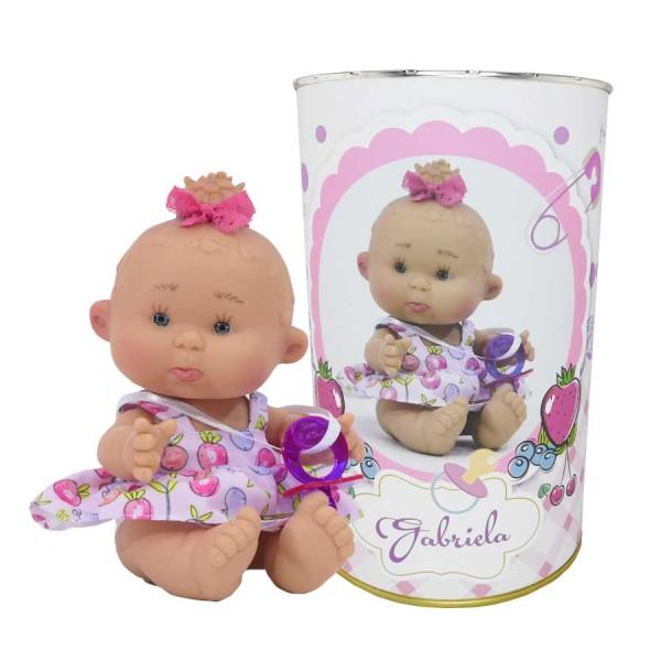 Muñeca Gabriela en lata personalizada
