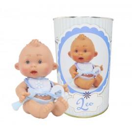 Muñeco Leo en lata personalizada