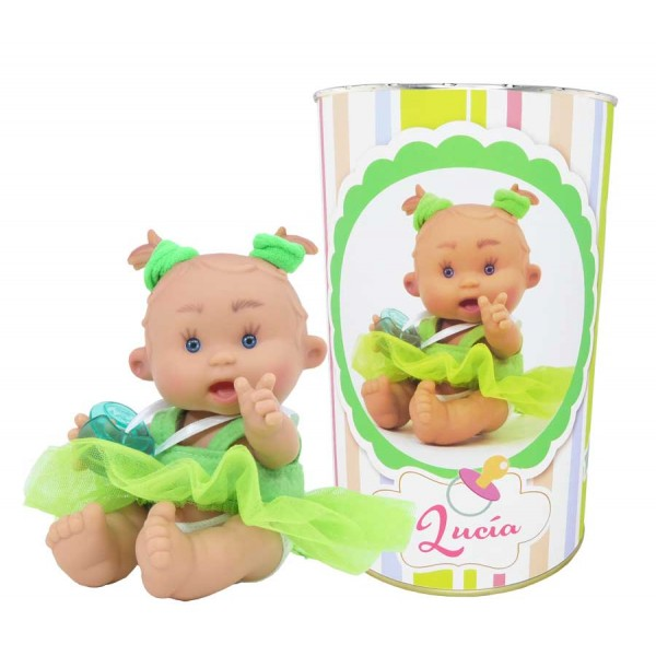 Muñeca Lucía en lata personalizada
