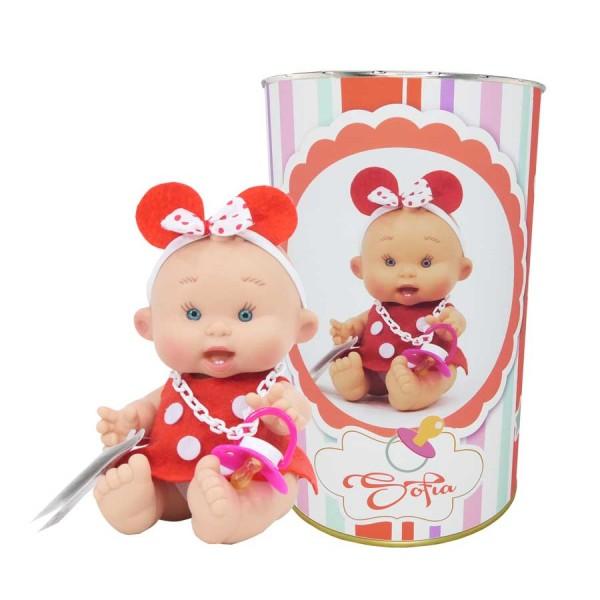 Muñeca Sofía en lata personalizada