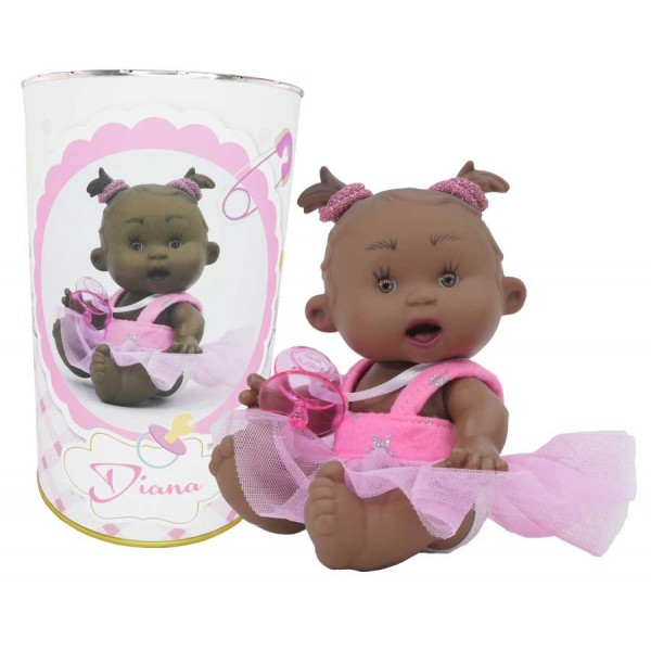 Muñeca Diana en lata personalizada