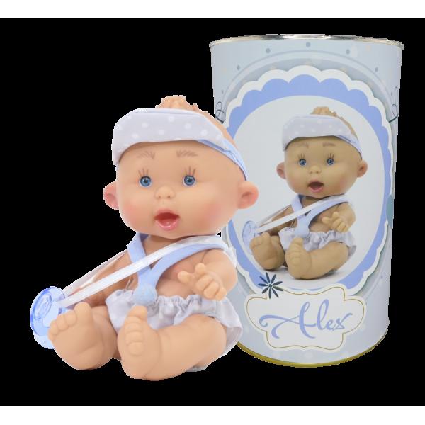 Muñeco Alex en lata personalizada