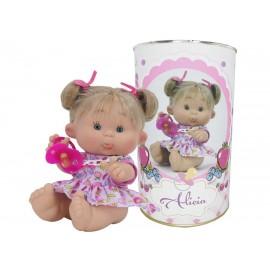Muñeca Alicia en lata personalizada