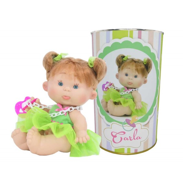 Muñeca Carla en lata personalizada