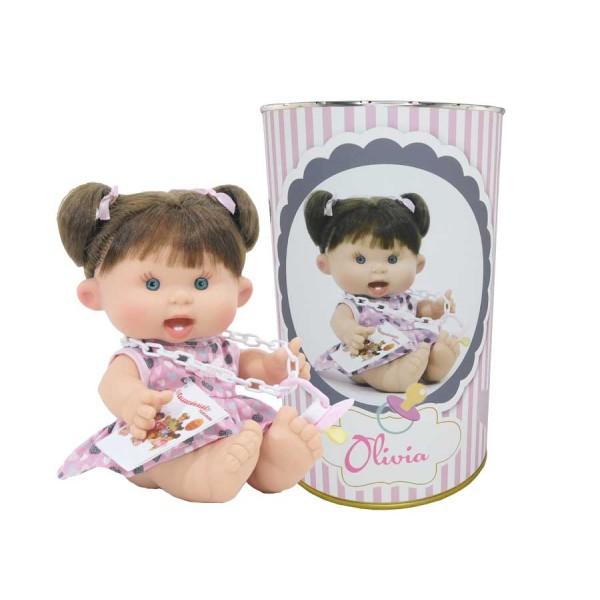 Muñeca Olivia en lata personalizada