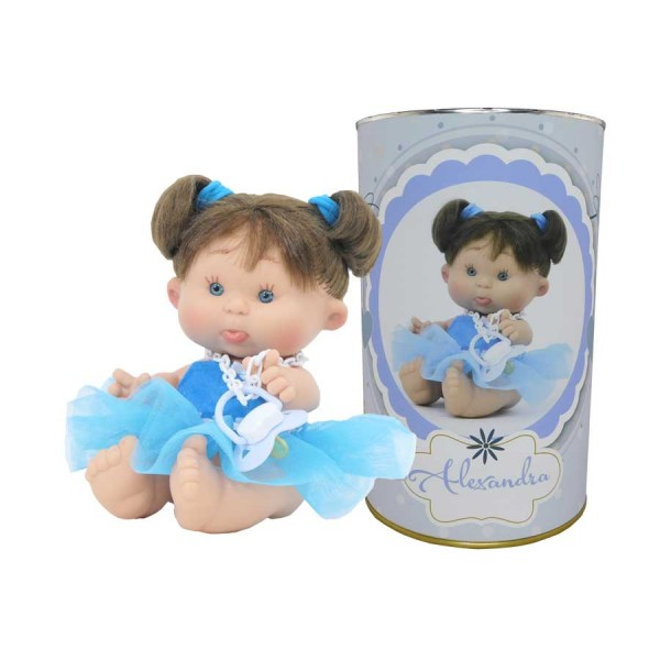 Muñeca Alexandra en lata personalizada