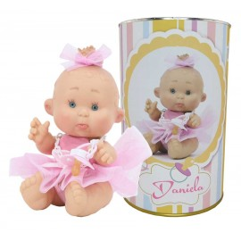 Muñeca Daniela en lata personalizada con nombre