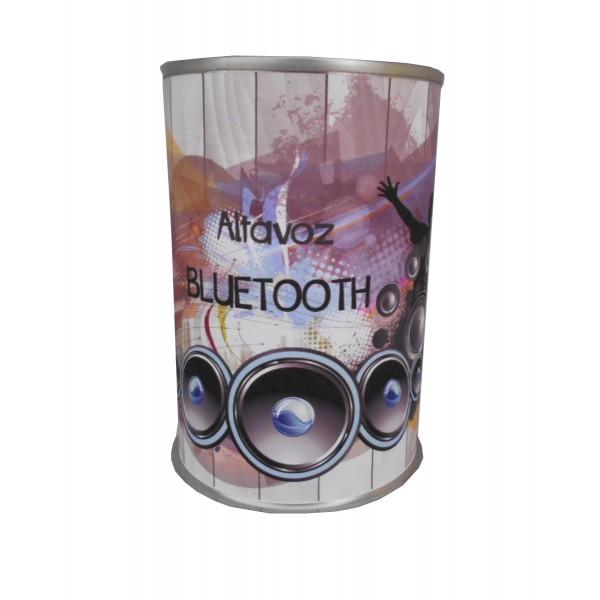 Altavoz Radio metálico Bluetooth en lata