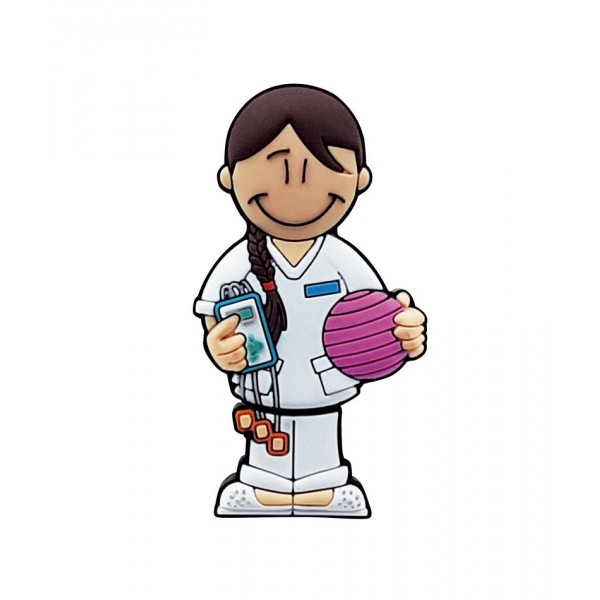 USB Chica fisoterapeuta en lata