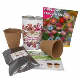 Kit de cultivo Flores Secas en lata