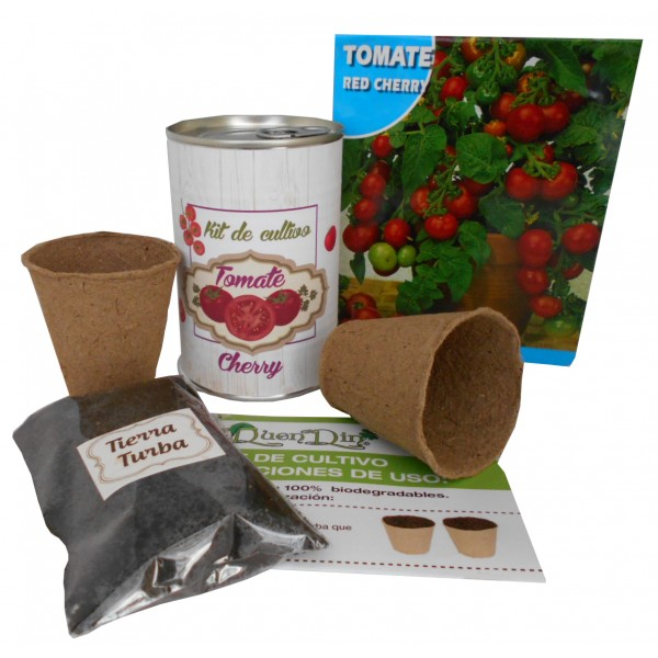 Kit de cultivo Tomate Cherry en lata