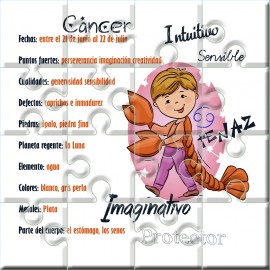 Puzzle horóscopo Cancer en lata