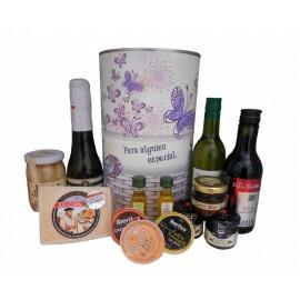 Lata para regalo mujer con abre fácil con productos gourmet