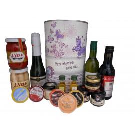Lata regalo con productos gourmet para mujer